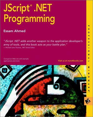 JScript? .NET Programming (M&T Books) by Wiley