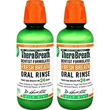 TheraBreath Fresh Breath Dentist Formulated Oral Rinse - Mild Mint Flavor, 16 Ounce (Pack of 2)