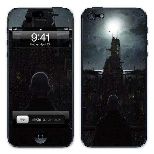 Diabloskinz B0081-0054-0008 Vinyl Skin für Apple iPhone 5/5S The Tenebrous Sprawl