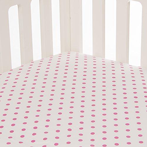 Glenna Jean Millie Fitted Sheet, Pink Dot