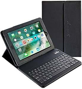 iPad mini Keyboard + Leather Case, Alpatronix KX101 Bluetooth iPad mini Keyboard Smart Case w/ Removable Wireless Keyboard, Folio Protection & Built-in Tablet Stand for iPad mini 4, 3, 2, 1 - Black