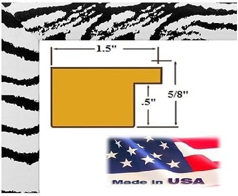 Amazon Com Us Art 4x6 Latest Elegant Zebra Picture Poster Frame Geo Friendly Mdf 1 5 Inch Wide Moulding