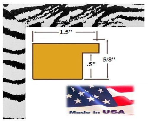 zebra picture frame 8x10 - 3