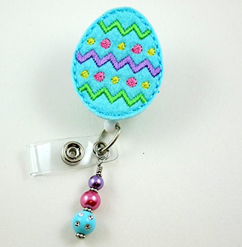 Easter Egg Light Blue - Nurse Badge Reel - Retractable ID Badge Holder - Nurse Badge - Badge Clip - Badge Reels - Pediatric - RN - Name Badge Holder
