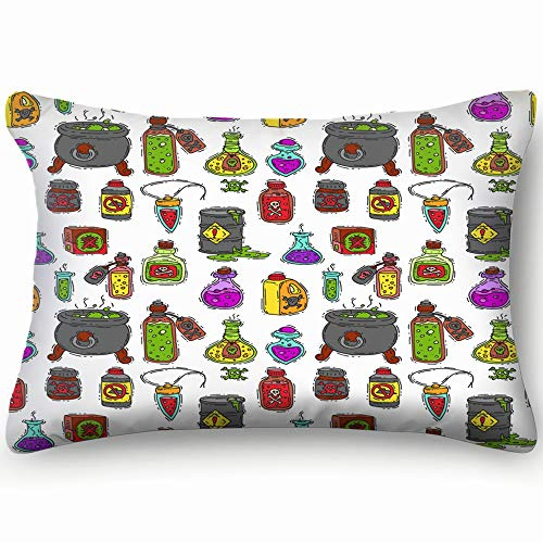 best bags Bottle Potion Game Magic Glass Elixir Alchemy Food and Drink Skin Cool Super Soft and Luxury Pillow Cases Covers Sofa Bed Throw Pillow Cover with Envelope Closure 1624 Inch ()