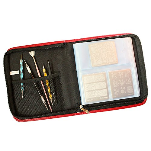 Winstonia Nail Art Stamping Plate Organizer Holder Zipper Carrying Case