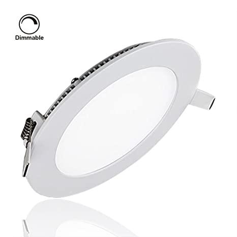 S&G® LED Panels Dimmable, Round Ultrathin Ceiling Light Fixture, 15W ...