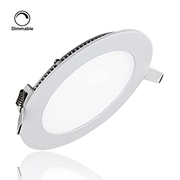 Su0026G Dimmable LED Panel Light Round Ultrathin Recessed Lighting Fixture Kit 12W 810LM 6000k(  sc 1 st  Amazon.com & Su0026G Dimmable LED Panel Light Round Ultrathin Recessed Lighting ...