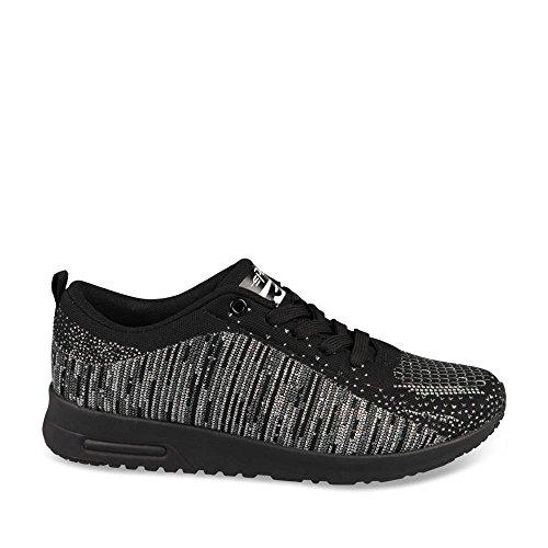 Unyk Chaussea- Chaussure de sport noire Femme en textile