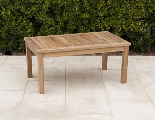 Willow creek designs rectangle teak coffee table 39 5 w for Willow creek designs