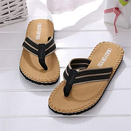 c6417f802c408 Image Unavailable. Image not available for. Color  Summer Men Flip Flops  Male Shoes Sandals Mix Color Slipper Indoor Or Outdoor Casual ...