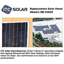 SHARP 165W NE165U5 NE165U1 & SCHOTT 175W Direct Replacement Solar Panel module (pallet of 6 Panels)