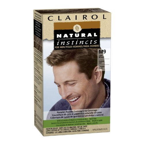 Natural Instincts de Clairol pour Hommes Couleur des cheveux, Light Brown (M9)