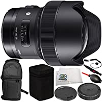 Sigma 14mm f/1.8 DG HSM Art Lens for Canon EF 10PC Accessory Bundle – Includes Dust Blower + Lens Cleaning Pen + MORE