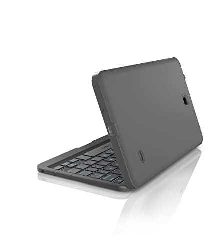 best service 3db09 7a50f ZAGG Folio Case, Hinged with Backlit Bluetooth Keyboard for Samsung Galaxy  Tab 4 - Black (8