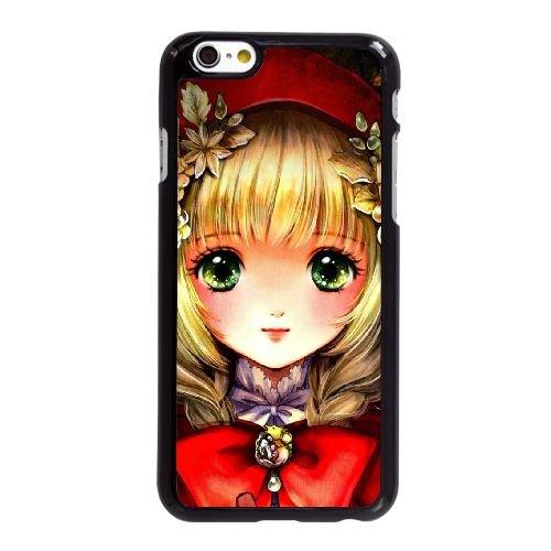 T4S54 Chaperon Rouge K5C8OS coque iPhone 6 4.7 pouces Cas de couverture de téléphone portable coque noire WV6JTP9YK