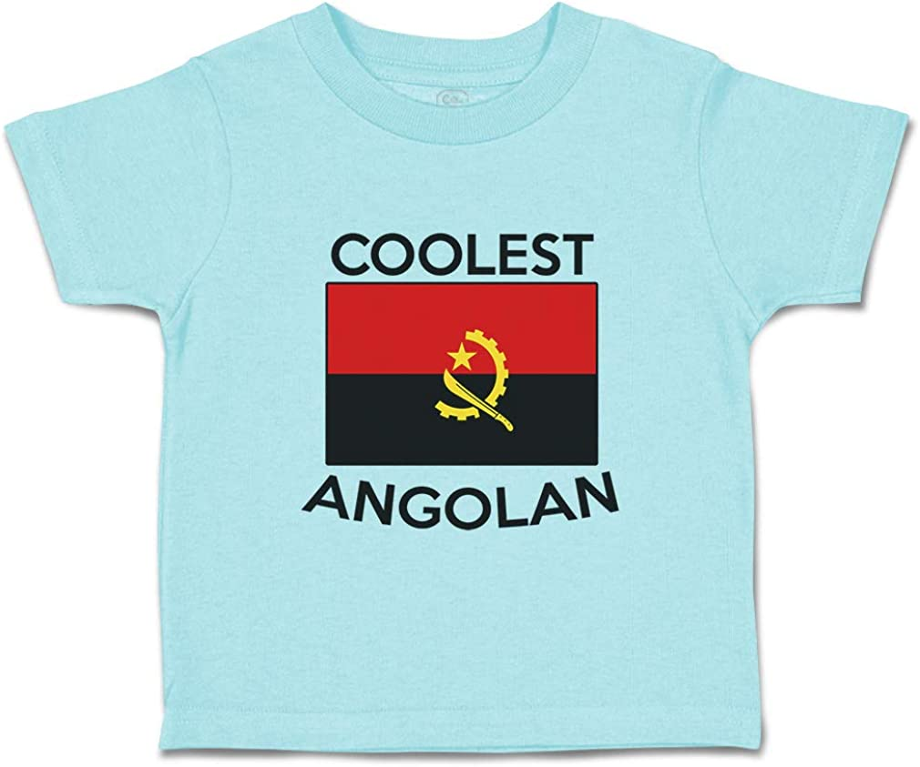 Custom Baby /& Toddler T-Shirt Coolest Angolan Cotton Boy Girl Clothes