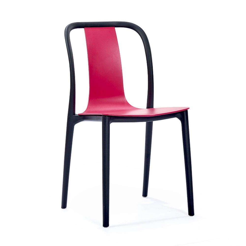 ダイニングチェア チェア Chair ッション アメリカのPp材料Stackable Household Splice省スペースシンプルなプラスチック TINGTING (色 : Pink) B07F9P9SCR Pink Pink