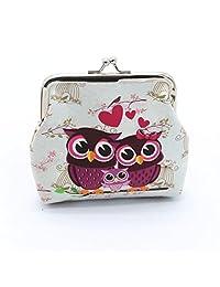 Susenstone Women Lady Retro Vintage Owl Small Wallet Hasp Purse Clutch Bag
