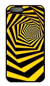 Yellow Black Stripe - iPhone 5 5S Case Funny Lovely Best Cool Customize PC iPhone 5 Cover Black