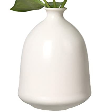 Amazon Outflower Bell Shaped Ceramic Vasewhite Home Kitchen