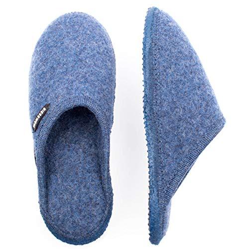 Giesswein Unisex 46267 Fieltro Pantuflas De Tino jeans Azul 527 H7Hznx1w