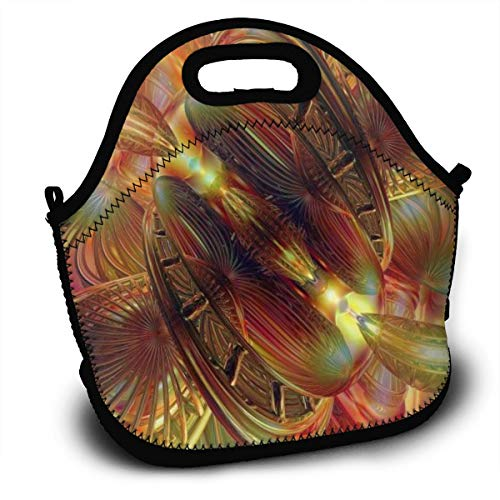 Diemeouk Lunch Bag for Kids,Tote Box Fire Light Insulated and Reusable,Carry Case Handbags
