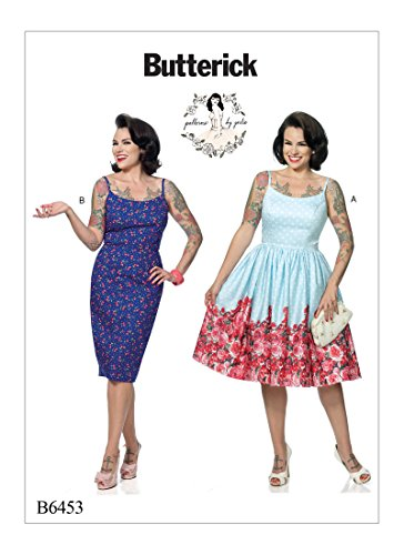 Butterick Patterns B6453 E5 Misses' Princess Seam Dresses with Straight or Gathered Skirt by Gertie, Size (14-16-18-20-22) 6453 (Dress Sew Princess)