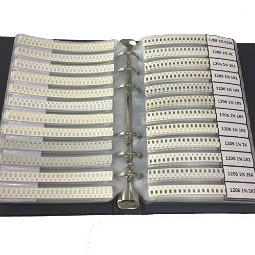 E-First 1206 1% SMD SMT Chip Resistors Sample Book Assorted Kit 170Values x50pcs Assortment