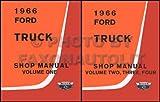 1966 Ford Truck Shop Manual- 2 Volume Set
