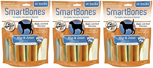 (3 Pack) SmartBones Functional Health Hip and Joint Care Chicken Treat Sticks for Dogs (16 Treats Per Pack / 48 Treats Total) Review