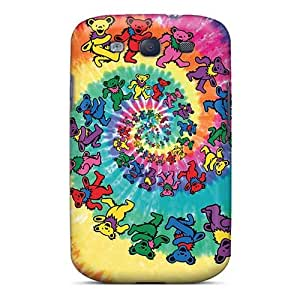 Bumper Hard Phone Case For Samsung Galaxy S3 With Support Your Personal Customized Colorful Grateful Dead Skin Marycase88