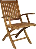 Teak Santa Barbara Folding Arm Chair made by Chic Teak (set of 2)