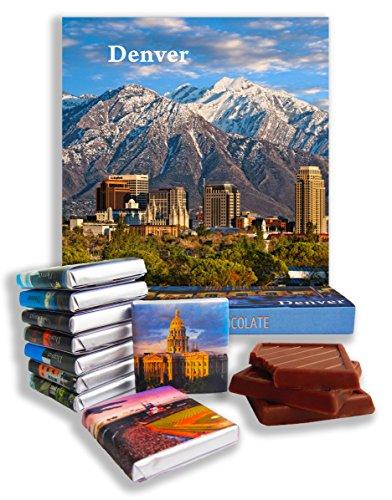 DA CHOCOLATE Candy Souvenir DENVER Chocolate Gift Set 5x5in 1 box (Mountains - Colorado Malls