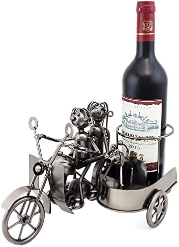 BRUBAKER Wine Bottle Holder Motorcycle Couple