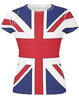 British Flag Union Jack All Over Juniors T Shirt