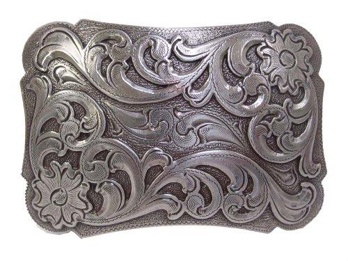(Engraved Floral Pattern Western Belt)