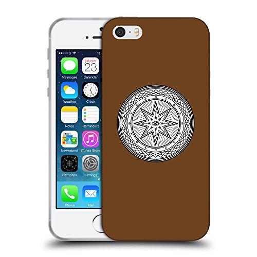 GoGoMobile Coque de Protection TPU Silicone Case pour // Q09700633 Mystique occulte 19 Sépia // Apple iPhone 5 5S 5G SE