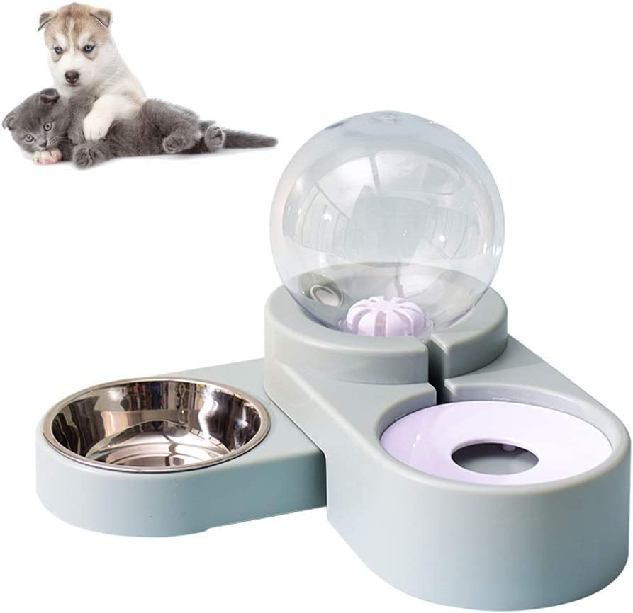 PETCARE Pets Cat Dog Water and Food Bowl Set Feeding Bowl Automatic Water Dispenser Fountain Water Bowl feeders and waterers