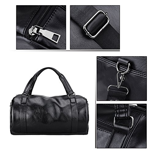 Waterproof b function High Pu Multi Back Travel Shoulder Capacity Luggage Jn Men's Black Bag Tote 3097 Leather 2018 RwTx5TBpq