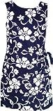 Product review for RJC Women's Classic Hibiscus Hawaiian Mock Wrap Sarong Dress