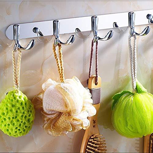 Agordo 5-Hook Double-deck Hat Clothes Bag Bathroom Hanger Towel Hanging Rack (Guitar Triple Deck)
