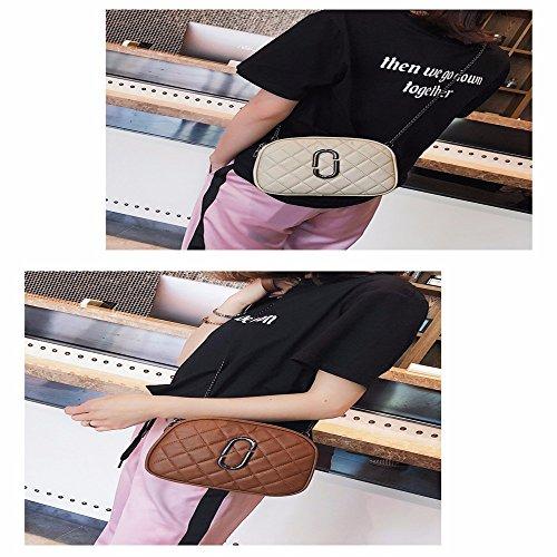 pequeño Bolsa Brown Viento de rombo fragante Pequeña Blanco GAOQIANGFENG 6S7BOx