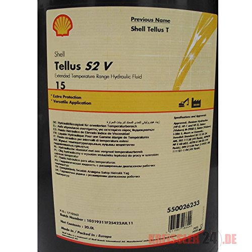Amazon com: SHELL TELLUS S2 V 15 INDUSTRIAL HYDRAULIC FLUID FOR WIDE