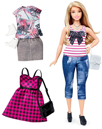 Barbie Fashionistas Doll & Fashions Everyday Chic, Curvy Blonde (Models With Blonde Hair And Brown Eyes)