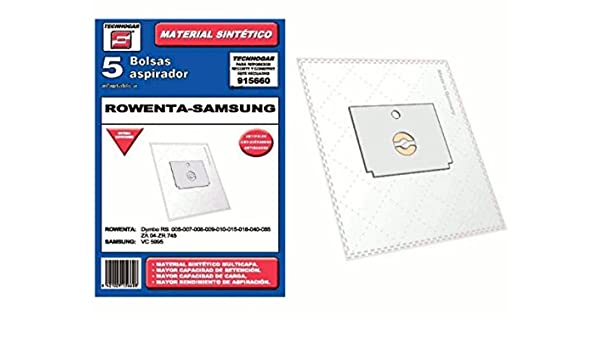Synthetic Vacuum cleaner bag Rowenta Samsung Pack of 5 ...