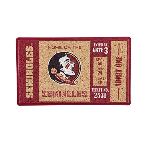 Team Sports America Florida State University Recyclable PVC Vinyl Indoor/Outdoor Weather-Resistant Team Logo Door Turf Mat