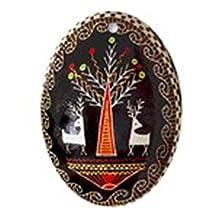 CafePress - PYSANKA Ukrainian Design - Oval Holiday Christmas Ornament