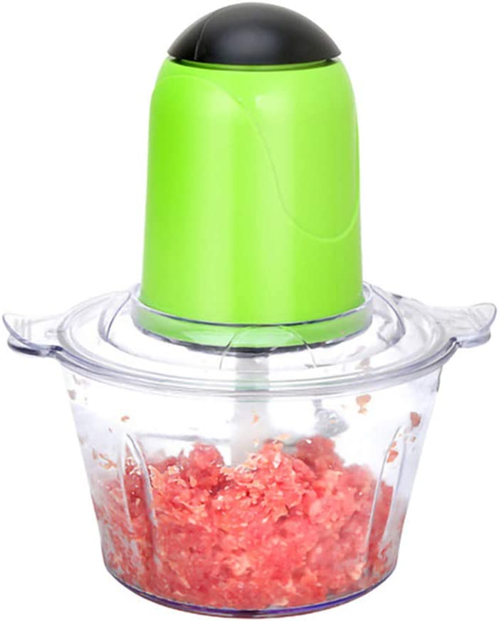 DPFXNN Electric Meat Grinder, Food Chopper 2l Stainless Steel Processor, for Meat Vegetables Fruits and Nuts Bowl Sharp Blades 800w Electric Kitchen Tools