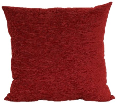 Brentwood 3438 Crown Chenille Floor Cushion, 24-Inch, Rio Red (Red Floor Pillow)